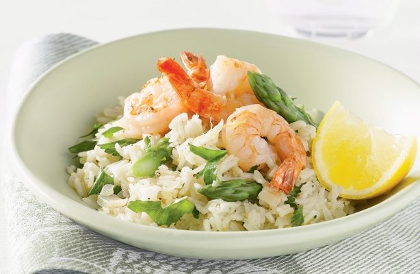 FROM VENETO: RISOTTO DI SCAMPI AGLI ASPARAGI (Risotto with shrimp and asparagus)